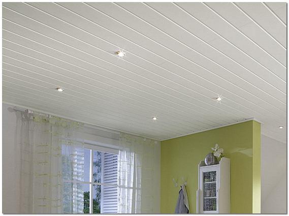 Реечный подвесной потолок в частном доме