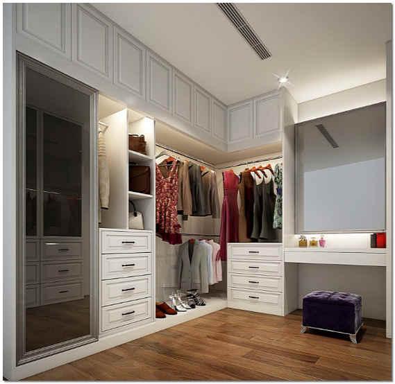 Встраиваемая мебель в коридоре фото
