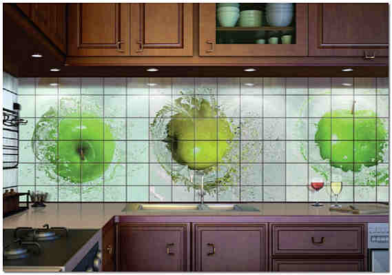 Фотокафель на фартук кухни