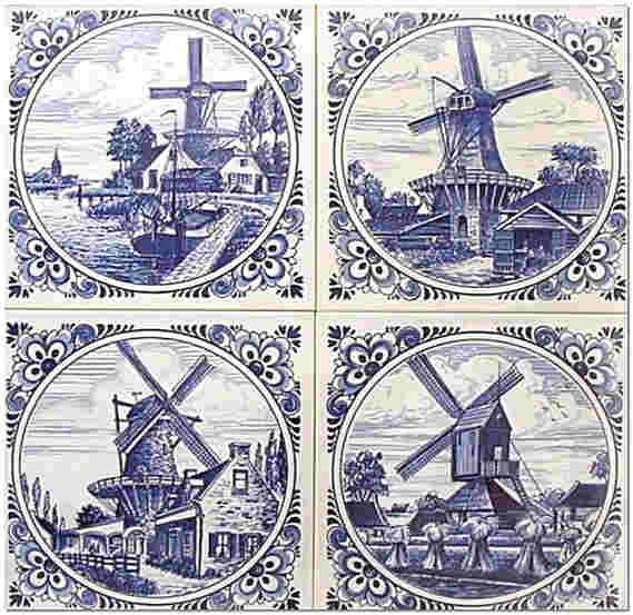 Голландские изразцы фото