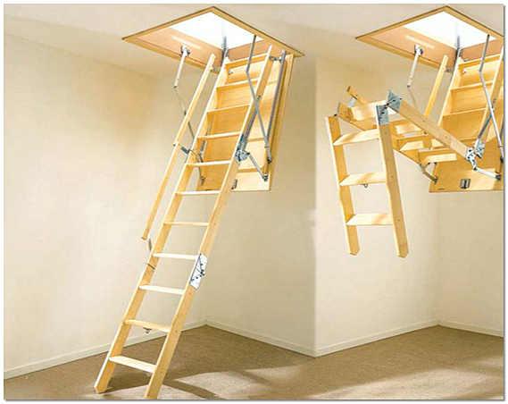 Складная лестница на второй этаж