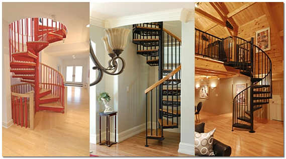 Винтовые лестницы на второй этаж фото