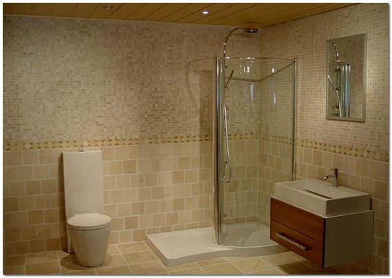 Интерьер ванной комнаты и санузла