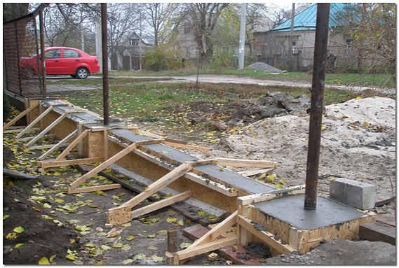 Заливка фундамента под забор