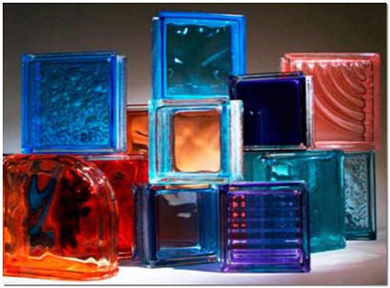 Стеклянные блоки для перегородок фото