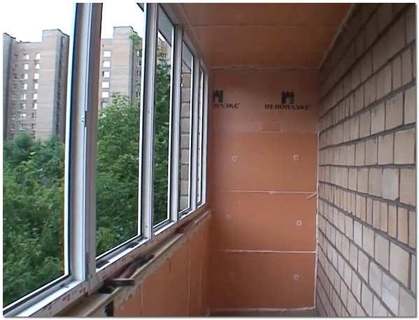 Утепление стен и потолка лоджии пеноплексом фото