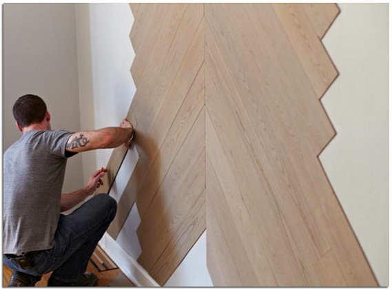 Как уложить ламинат на стену по диагонали фото