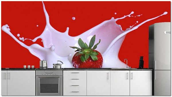 Сочные фотообои для кухни на фартук