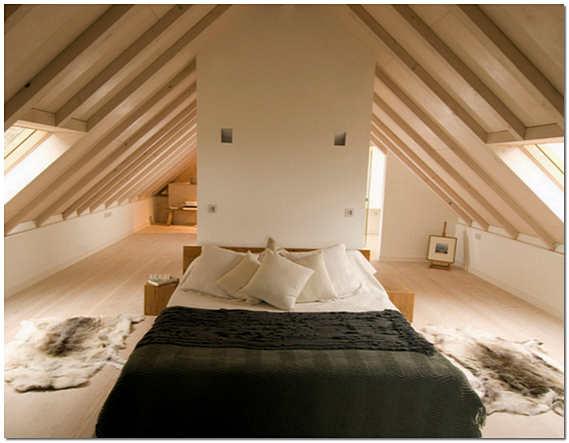 Спальня на чердаке фото
