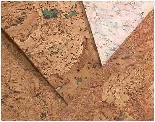 Шлифованные пробковые листы для стен