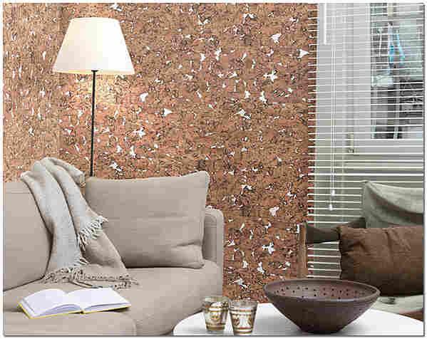 Пробковые стены в гостиной фото