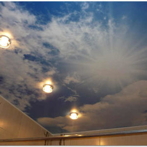 Натяжной потолок в ванной – монтаж натяжной конструкции своими руками