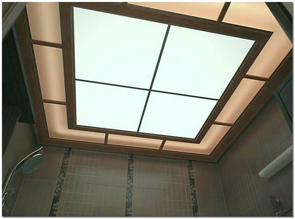 Подвесной потолок из поликарбоната с подсветкой