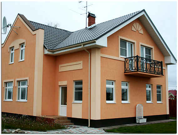 Акриловая декоративная штукатурка для фасада дома фото