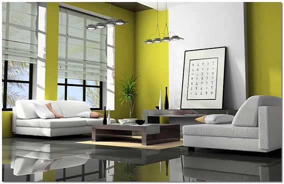 Глянцевый полимерный пол в квартире