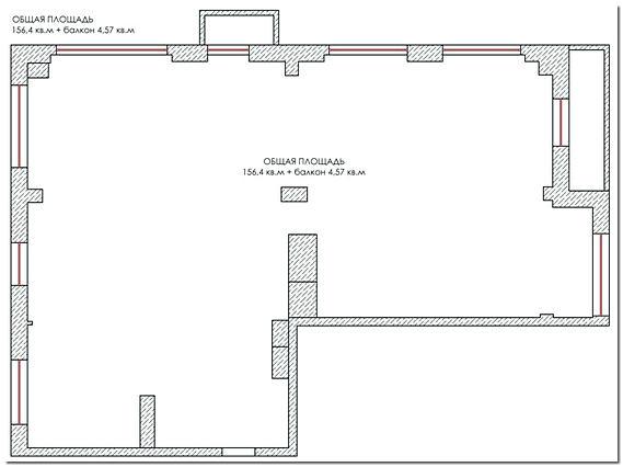 План квартиры свободной планировки