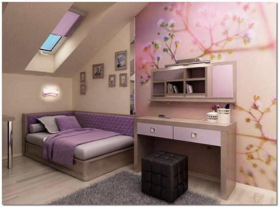 Комната под крышей фото