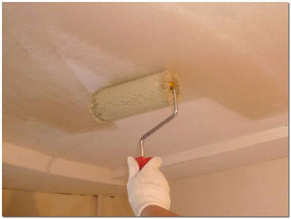 Грунтовка потолка перед покраской водоэмульсионной краской фото