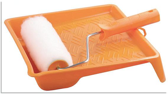 Валик и ванночка для грунтовки