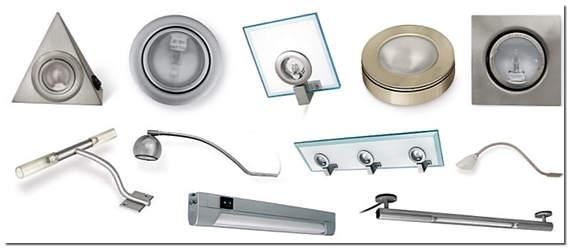 Точечные светильники для шкафов-купе