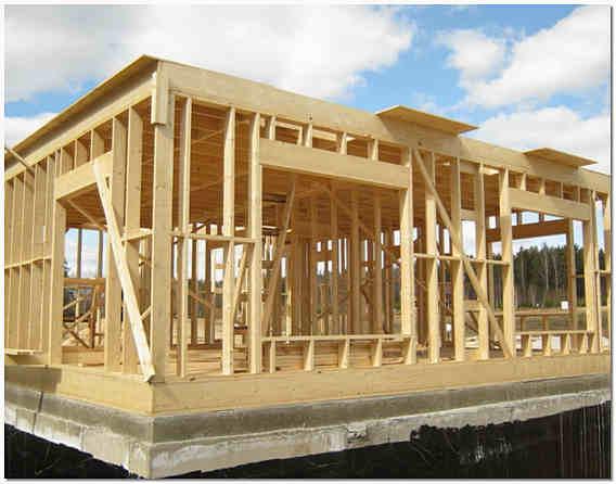 Строительство каркасного дома на ленточном фундаменте фото