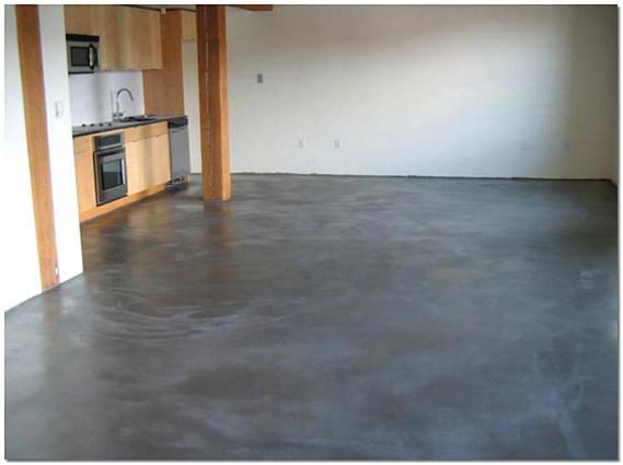 Устройство бетонных полов на кухне